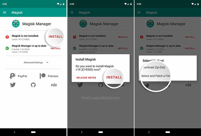 Root ASUS Zenfone 6 (ASUS 6z) - Patch Stock Boot Image using Magisk Manager
