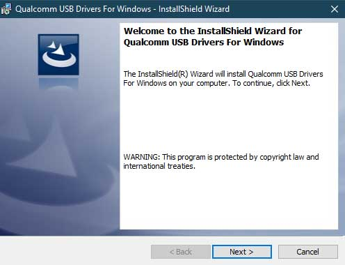 Install Qualcomm HS-USB QDLoader 9008 Drivers - Direct Method - InstallShield Wizard