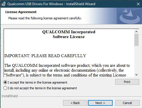 Install Qualcomm HS-USB QDLoader 9008 Drivers - Direct Method - Accept T&C