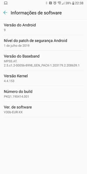 LG V30/V30+/V30S Android Pie Update - Software Information