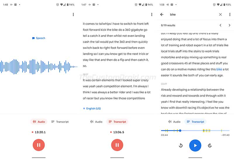 Google Recorder App from Pixel 4 - Live Transcription and Audio Search