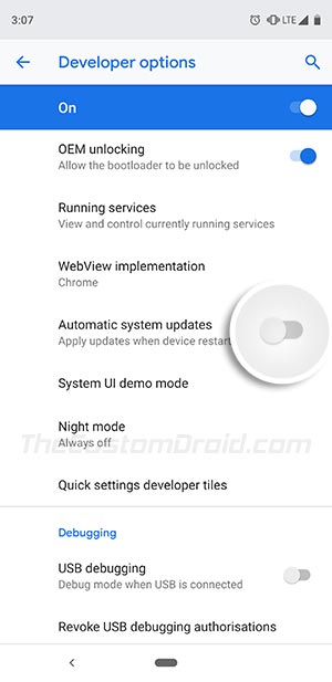 Install OTA Updates on Rooted Android Devices - Disable Automatic System Updates