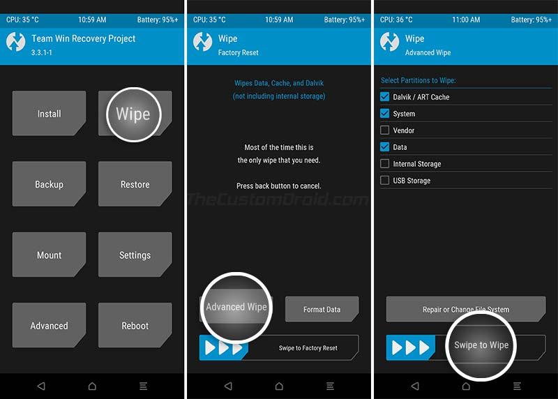 Install OnePlus 7/7 Pro OxygenOS 10 Update - Wipe Existing Custom ROM in TWRP