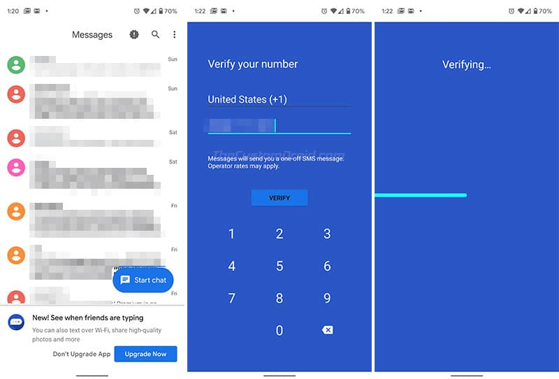 Configure RCS in Android Messages App