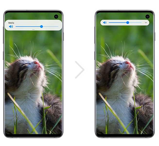 Samsung Galaxy S10 One UI 2.0 Beta - Minimized Volume Controls Notification