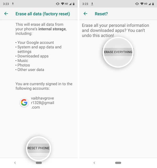 Hard Reset Xiaomi Mi A3 - Erase Everything in Phone Settings