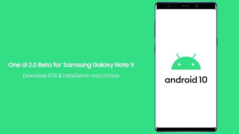 Download and Install One UI 2.0 Beta on Samsung Galaxy Note 9