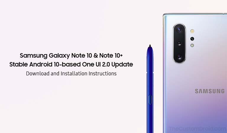 Загрузите и установите обновление Galaxy Note 10/10 + Android 10 (One UI 2.0)