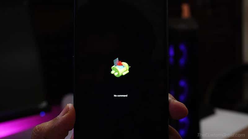 Nokia 7.1 Stock Recovery 'No Command' Screen