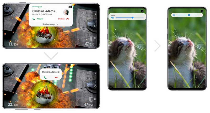 Samsung One UI 2.0 на Galaxy Note 10/10 + - Свернутые уведомления