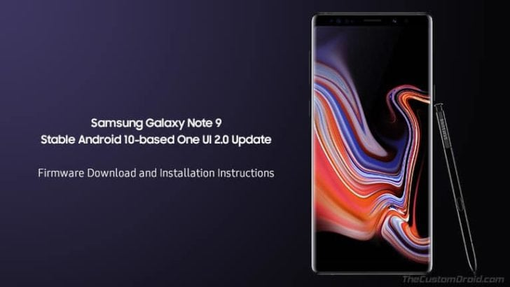 Download and Install Galaxy Note 9 Stable Android 10 (One UI 2.0) Update