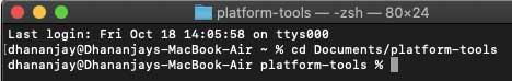 Run 'Flash-all.sh' script using Terminal on macOS/Linux PC