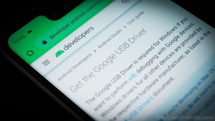 Download the latest Google USB Drivers