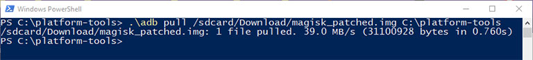 Example of how to use ADB Pull Command to Transfer File from Android to PC