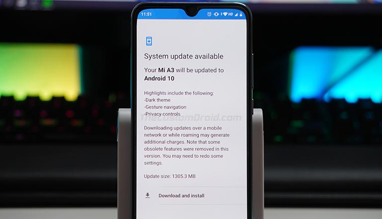 Download and Install Xiaomi Mi A3 Android 10 Update