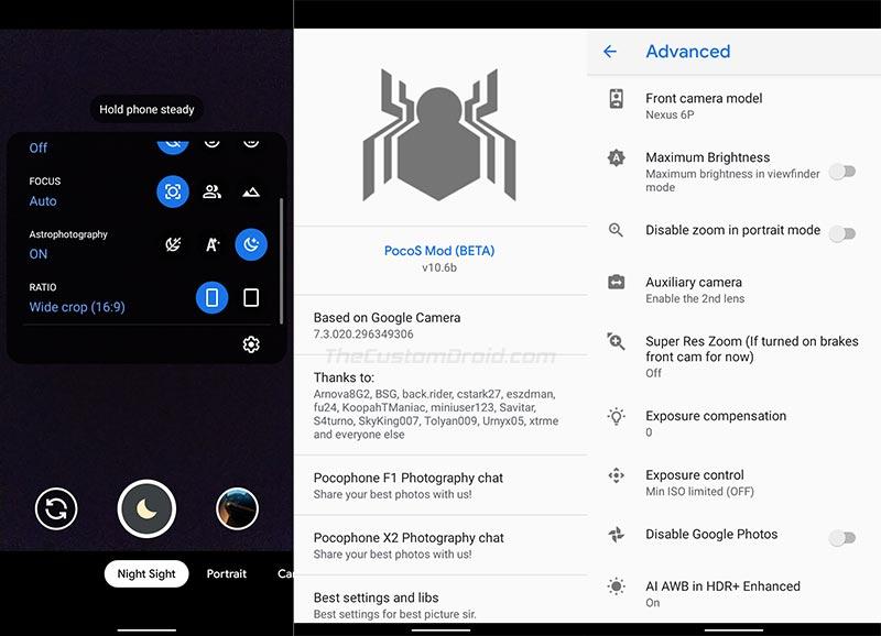 Google Camera Port for Xiaomi Poco X2