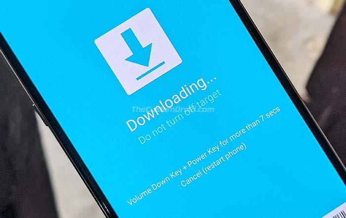 Загрузите Galaxy A50 в режим загрузки, чтобы установить прошивку Android 10.