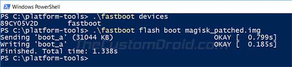 Flash Magisk Patched Boot Image to Root Asus ROG Phone 2