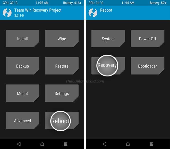 Infinix Hot 8 - Reboot TWRP Recovery