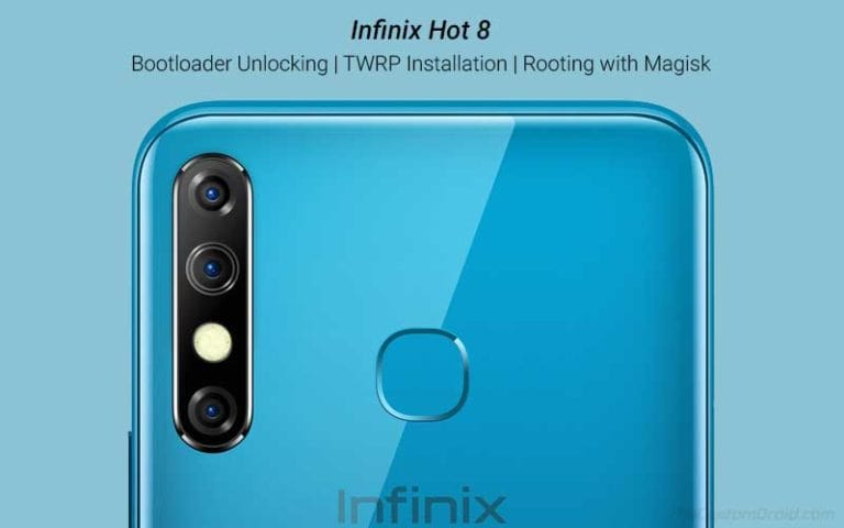 Guide to Unlock Bootloader, Install TWRP, and Root Infinix Hot 8 using Magisk