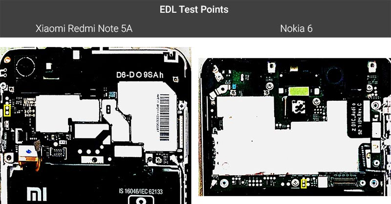 EDL Test Points on Xiaomi and Nokia Devices
