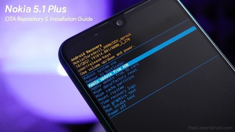 Download Nokia 5.1 Plus OTA Software Updates [August 2020 Security Update]