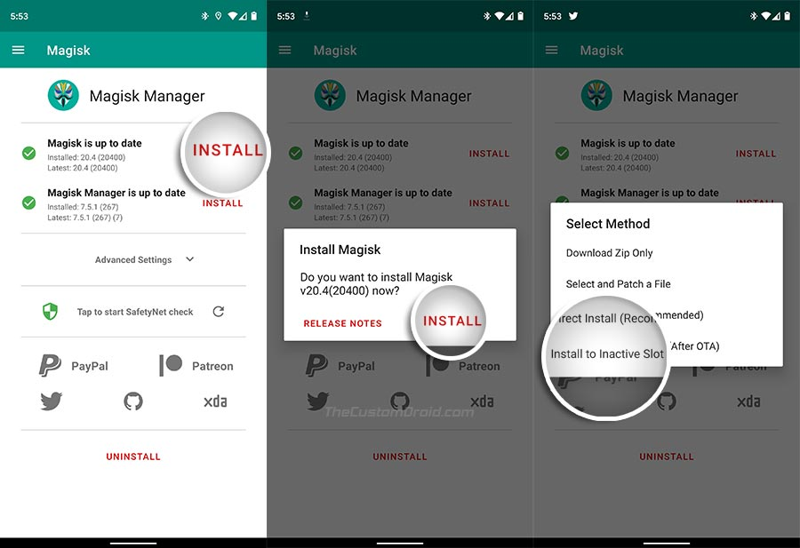 Install Magisk to Inactive Slot on ROG Phone 2