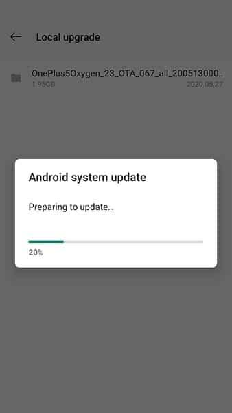 Обновление OxygenOS устанавливается на OnePlus 5 / 5T