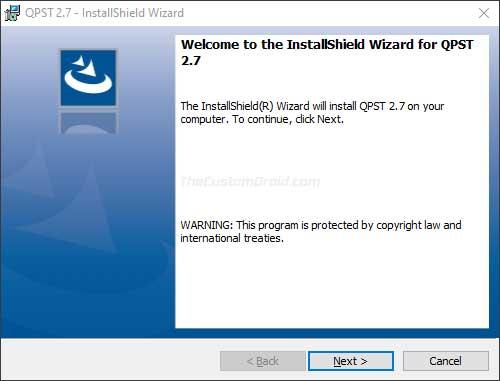 Install QPST Tool on Windows PC - 02