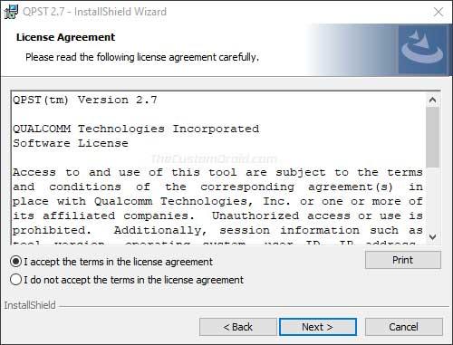Install QPST Tool on Windows PC - 03