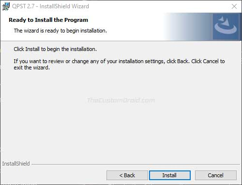 Install QPST Tool on Windows PC - 06