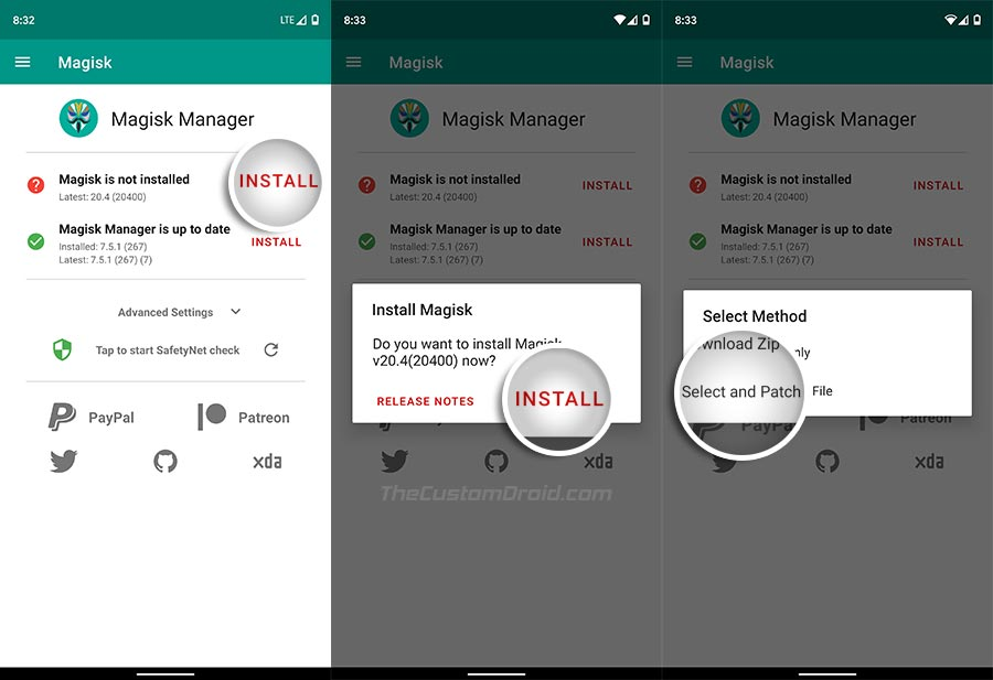 Patch Stock Boot Image via Magisk Manager on ROG Phone 2