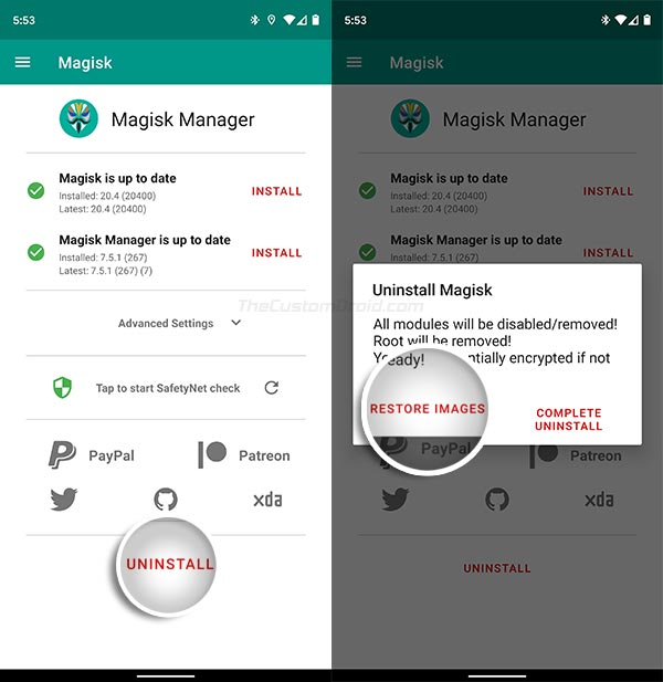 Restore Stock Boot Image on ROG Phone 2 via Magisk Manager