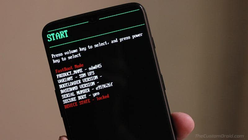 Boot Realme 6 Pro into Fastboot Mode