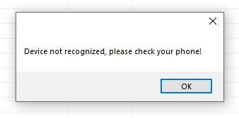 Устройство не распознается в Realme Flash Tool