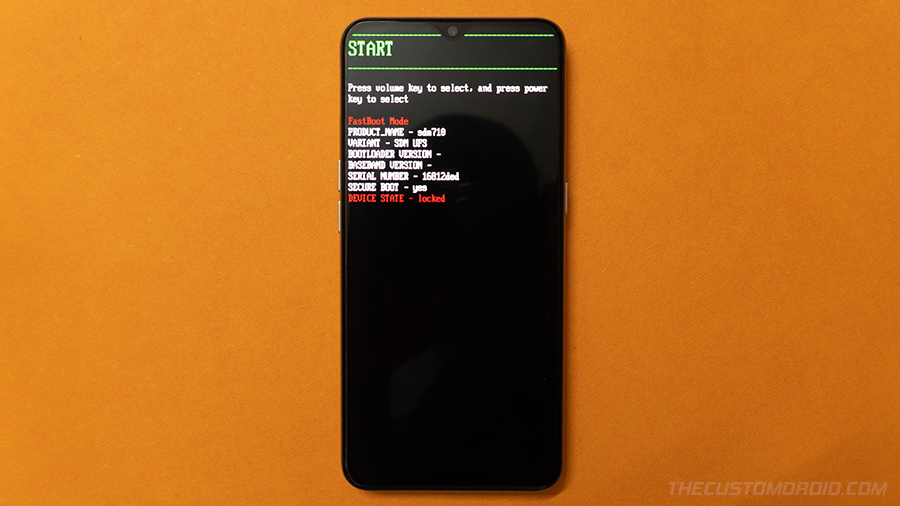 Boot Realme Phone into Fastboot Mode
