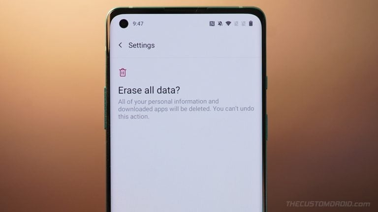 OnePlus 8T Factory Reset Guide