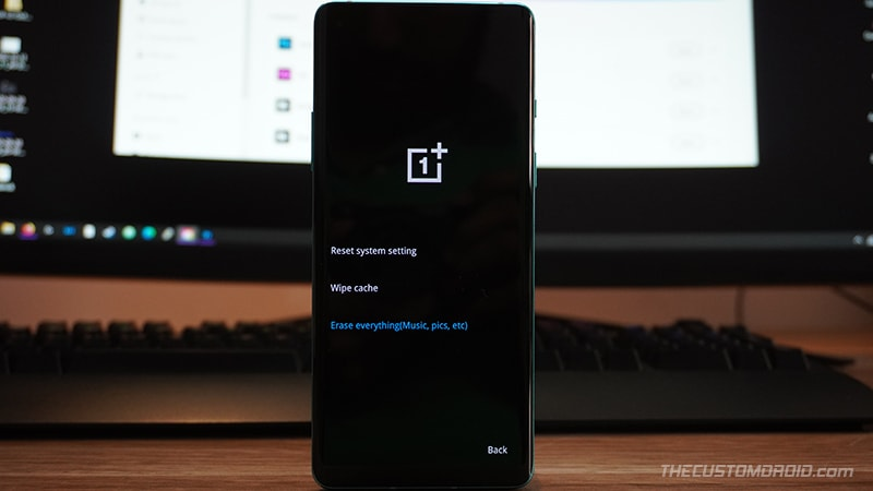 """Select """"Erase Everything"""" in OnePlus 8T Stock Recovery"""