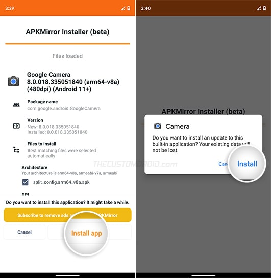 Install Google Camera 8.0 APK on older Pixel phones
