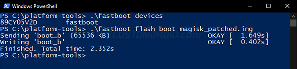 Step 9: Flash Patched Boot Image to Install Magisk and Root Android 11