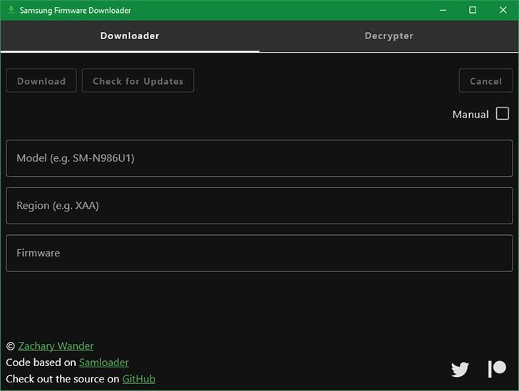 Samsung Firmware Download Tool GUI (based on Samloader)