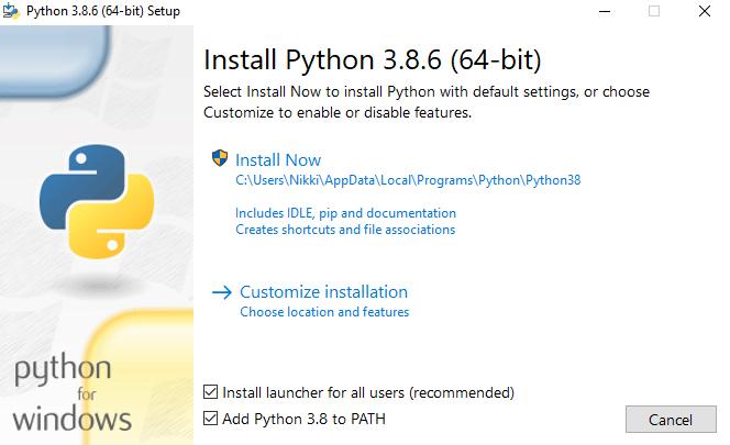 Installing Python on Windows