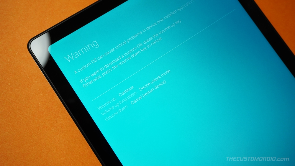 Bootloader Screen on Galaxy Tab A7