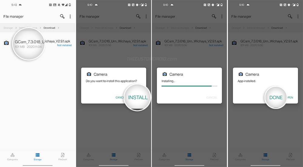 Install Google Camera Port APK on OnePlus 8T