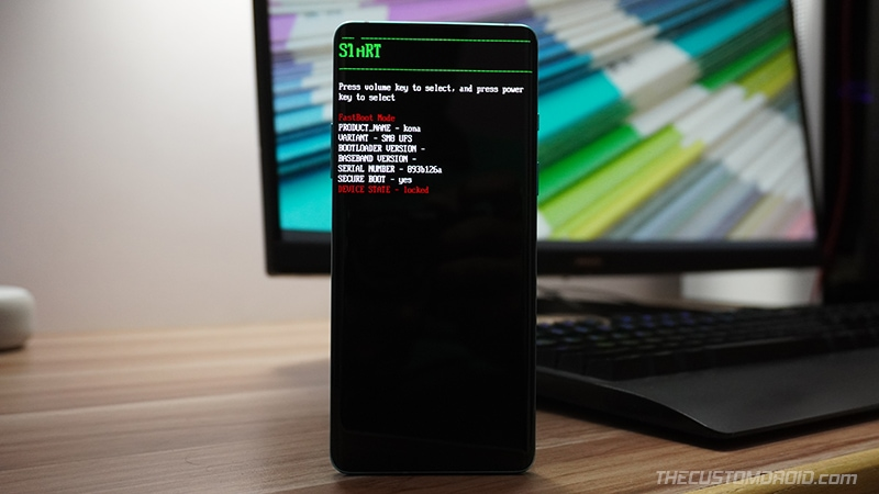 Boot your OnePlus phone into Fastboot Mode