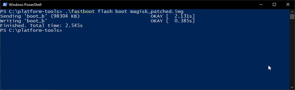 Flash Magisk Patched Boot Image to root OnePlus Nord
