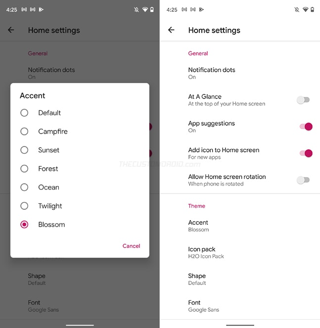 Set Accent Colors in Shade Launcher