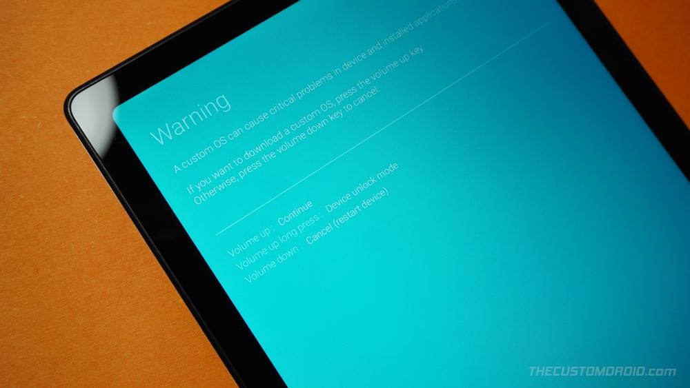 Access Device Unlock Mode on Galaxy Tab A7