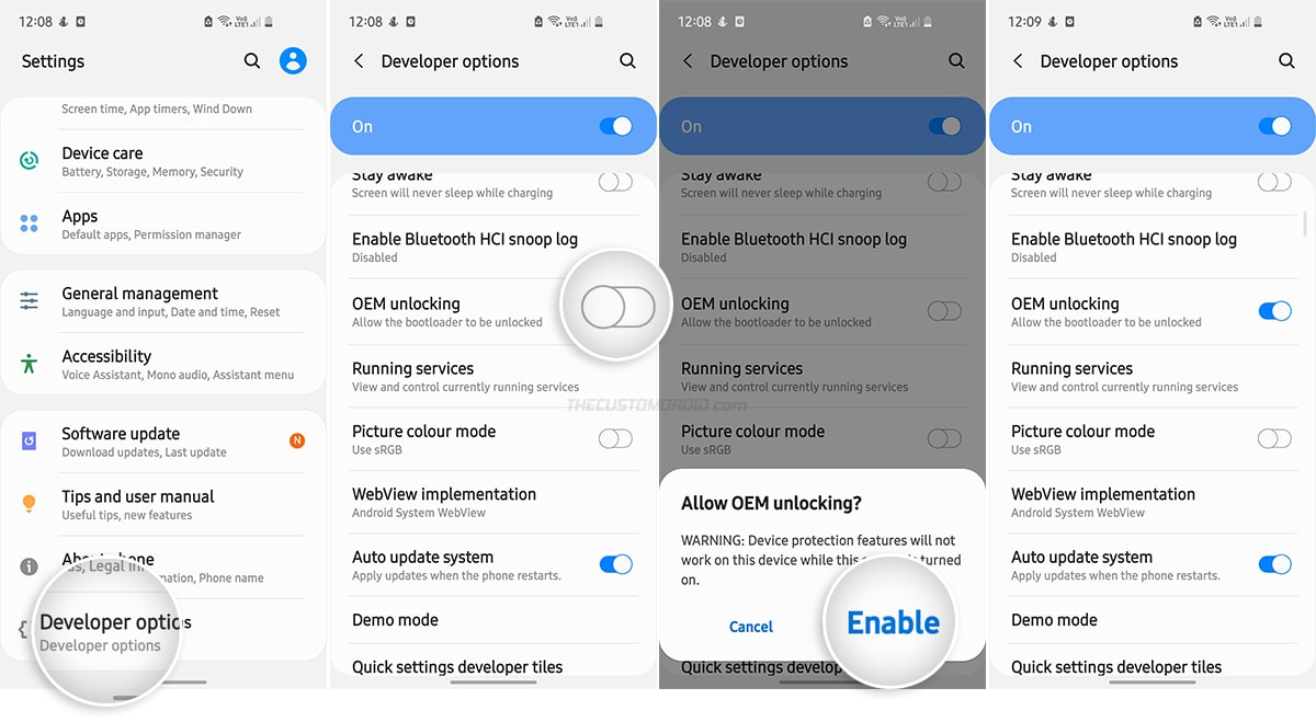 Enable OEM Unlocking on the Galaxy S20, S20+, or S20 Ultra