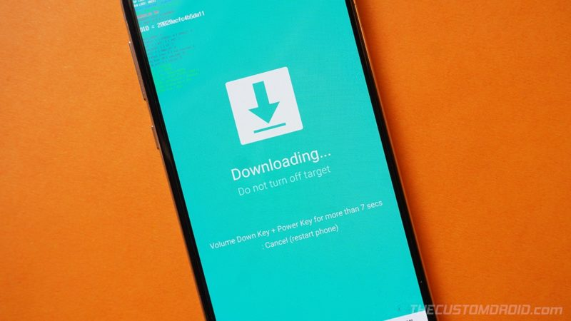 Boot the Galaxy S20 into Download Mode for flashing TWRP with Odin